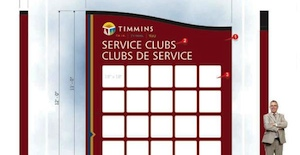 New Service Club Sign